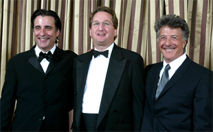 Marc Kruskol with Andy Garcia and Dustin Hoffman